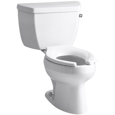 wellworth classic two piece elongated 16 gpf toilet with pressure lite flushing technology