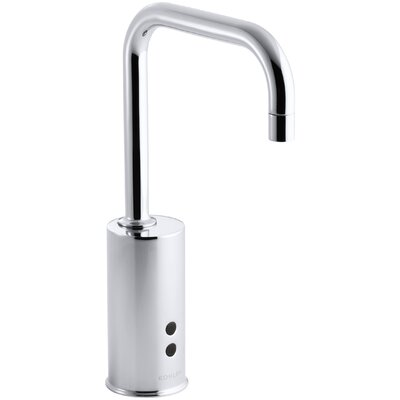 Kohler Gooseneck Single-Hole Touchless Hybrid Energy Cell-Powered Commercial Faucet with Insight Technology