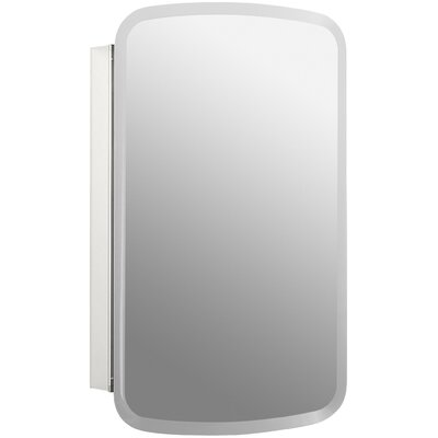 """Bancroft 20"""" W x 31"""" H Aluminum Single-Door Medicine Cabinet with Mirrored Door Product Photo"""