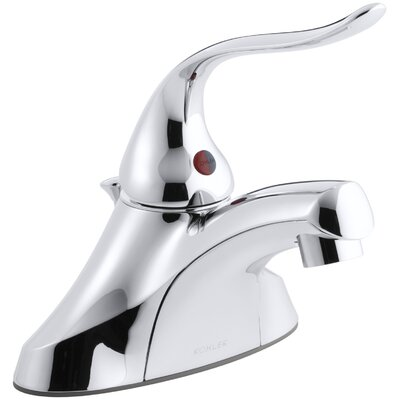 Coralais Centerset Commercial Bathroom Sink Faucet with Pop-Up Drain, Ground Joints, 1.5 GPM ...
