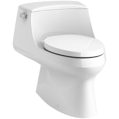 San Raphael Skirted 1-Piece Elongated 1.28 GPF Toilet with Left-Hand Trip Lever by Kohler