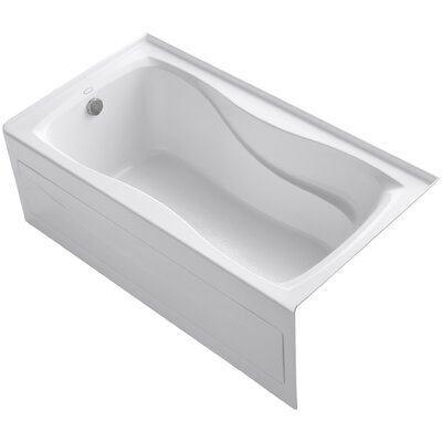 Hourglass Alcove Bath with Integral Apron and Tile Flange and Left-Hand Drain Product Photo