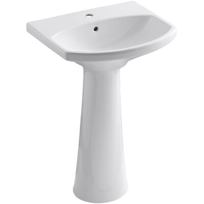Cimarron Pedestal Bathroom Sink with Single Faucet Hole Product Photo