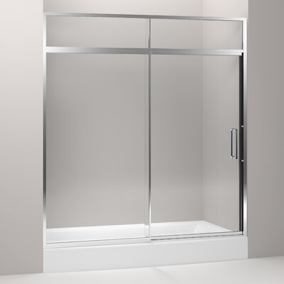 "Lattis 89.5"" x 72"" Pivot Shower Door with Sliding Steam Transom Product Photo"