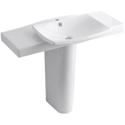 Kohler Escale Pedestal Bathroom Sink with Single Faucet Hole