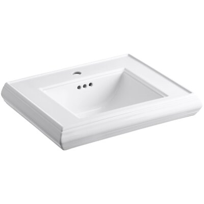 Memoirs Pedestal Bathroom Sink Basin with Single Faucet Hole by Kohler