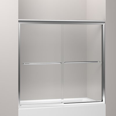 "Fluence 55.75"" x 59.63"" Sliding Bath Door Product Photo"
