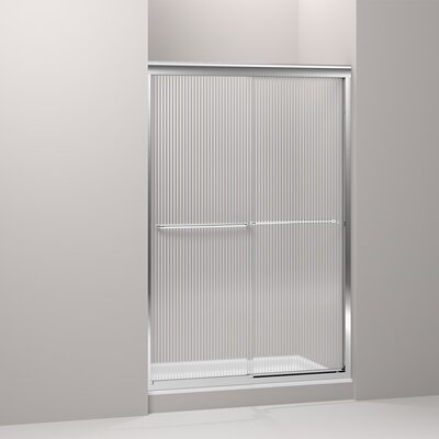 "Fluence 70.31"" x 47.63"" Sliding Shower Door Product Photo"