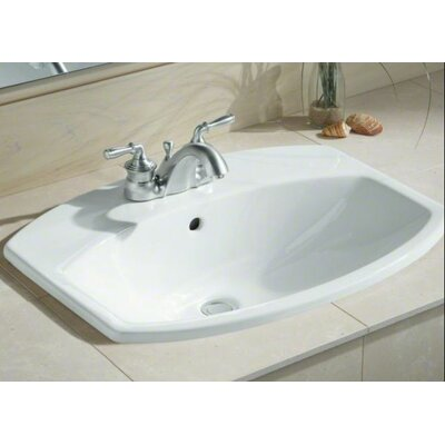 """Cimarron Drop-In Bathroom Sink with 4"""" Centerset Faucet Holes Product Photo"""