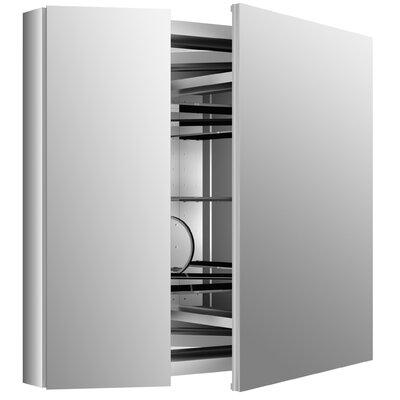 "Verdera 34"" W x 30"" H Aluminum Medicine Cabinet Product Photo"