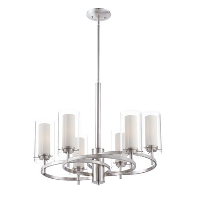 Hula 6 Light Candle-Style Chandelier by Philips Consumer Luminaire