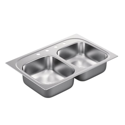 1800 Series Double Bowl Drop-In Kitchen Sink Product Photo
