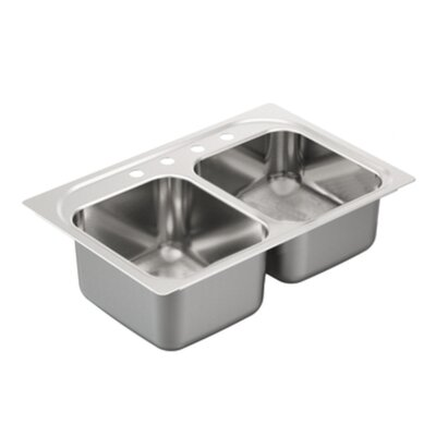 2000 Series Double Bowl Drop-In Kitchen Sink Product Photo