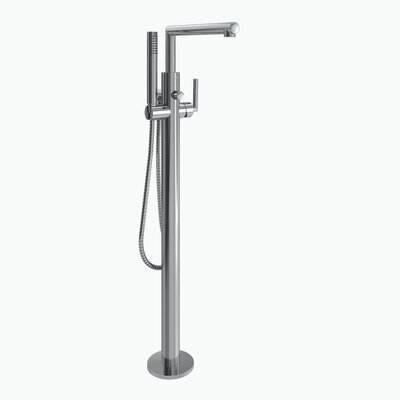 Arris Single Handle Floor Mount Tub Filler Trim with Hand Shower Product Photo
