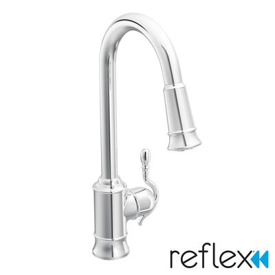 Woodmere Single Handle Single Hole Kitchen Faucet by Moen
