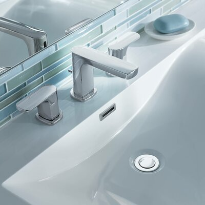 Rizon Double Handle Widespread Bathroom Faucet with Drain Product Photo