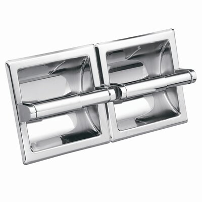 Moen Commercial Hotel / Motel Double Recessed Toilet Toilet Toilet Paper Holder in Polished Chrome