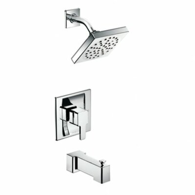 90 Degree Moentrol Tub and Shower Faucet Trim with Lever Handle Product Photo