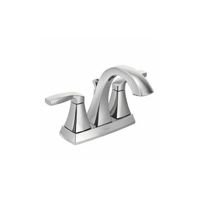 Voss Two Handle Centerset High Arc Bathroom Faucet with Optional Pop-Up Drain Product Photo