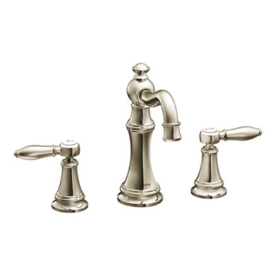 Weymouth Double Handle Widespread High Arc Bathroom Faucet with Optional Drain Product Photo