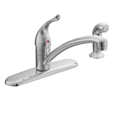 Moen Chateau Single Handle Centerset Kitchen Faucet with Protege Side Spray