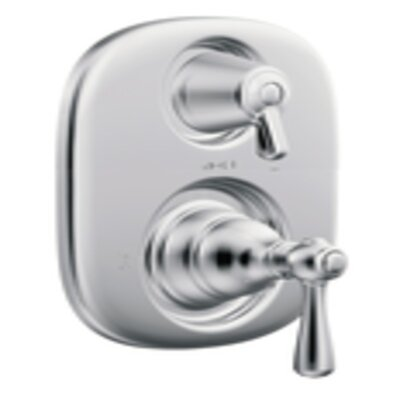 Kingsley Moentrol  Thermostatic Faucet Trim with Metal Push Button Handle Product Photo
