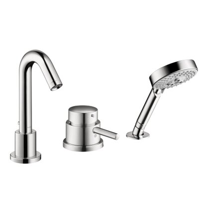 Talis S Single Handle Deck Mounted Roman Tub Faucet Trim with Hand Shower Product Photo