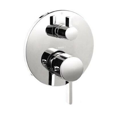 S Thermostatic Volume Control and Diverter Faucet Trim with Lever Handle Product Photo