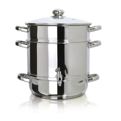 Stainless Steel Stove Top Steam Juicer by Euro Cuisine