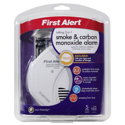 First Alert Combination Smoke and Carbon Monoxide Voice Alarm