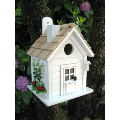 Home Bazaar Nestling Series Trellis Cottage Mounted Birdhouse