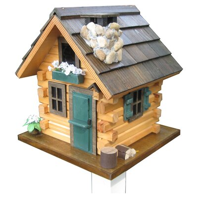 Log Cabin Bird Houses