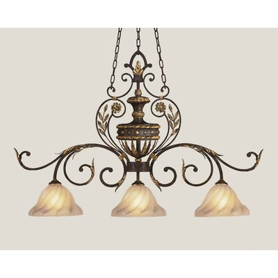 Fine Art Lamps Castile 3 Light Island Pendant