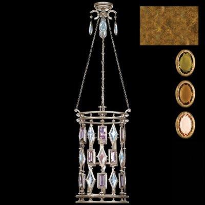 Encased Gems 6 Light Foyer Pendant by Fine Art Lamps
