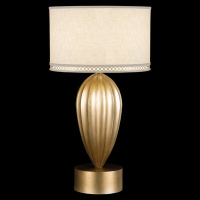 """Fine Art Lamps Allegretto Gold 33"""" H Table Lamp with Drum Shade"""