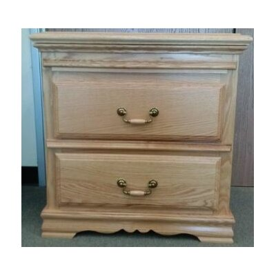 Country Heirloom 2 Drawer Nightstand by Bebe Furniture