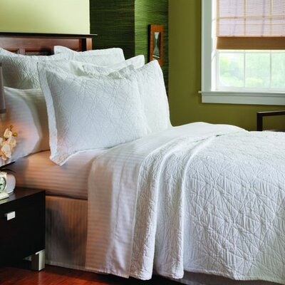 Matelassé Stone Washed Coverlet Collection by Caravelle