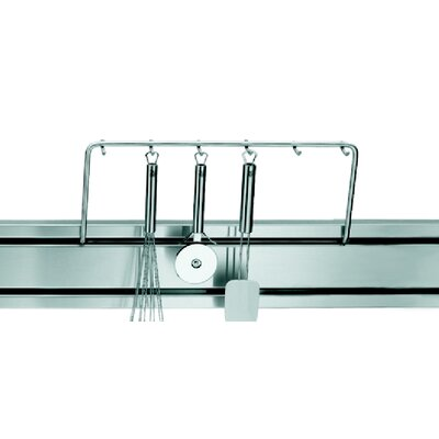 Franke Rail System Railing with Hooks in Stainless Steel