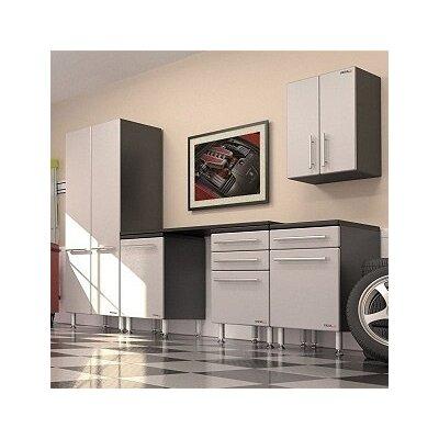 Garage PRO 7' H x 11' W x 2' D 6-Piece Storage System with Workstation ...