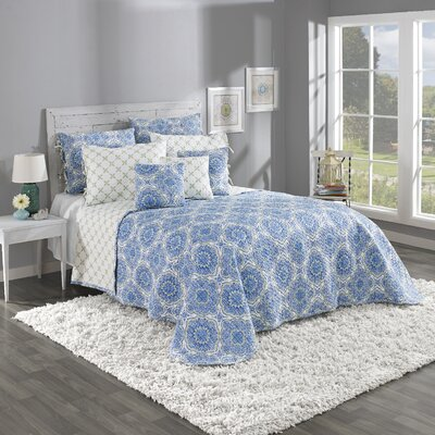 Trina Reversible Printed Bedspread Set by Belle Maison