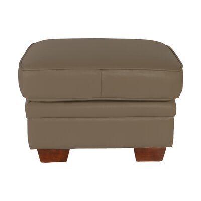 Como Leather Ottoman by Lazzaro Leather