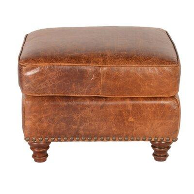 Alexus Leather Ottoman by Lazzaro Leather
