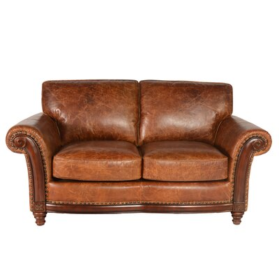 Alexus Leather Loveseat by Lazzaro Leather