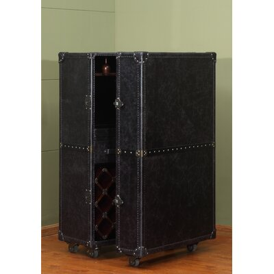 Meomi Wine Cabinet by Lazzaro Leather