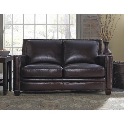Simplicity Leather Loveseat by Lazzaro Leather