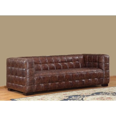Nautical Leather Sofa by Lazzaro Leather