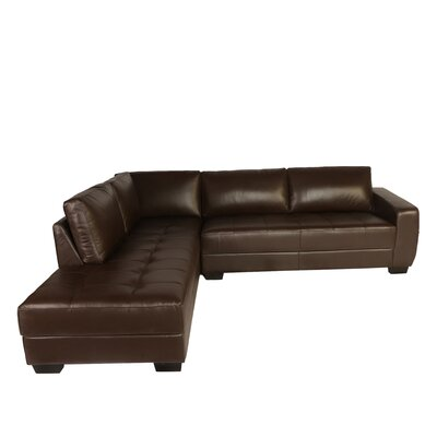 Frandis Leather Sectional by Lazzaro Leather