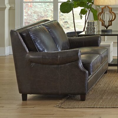 Brittan Leather Loveseat by Lazzaro Leather