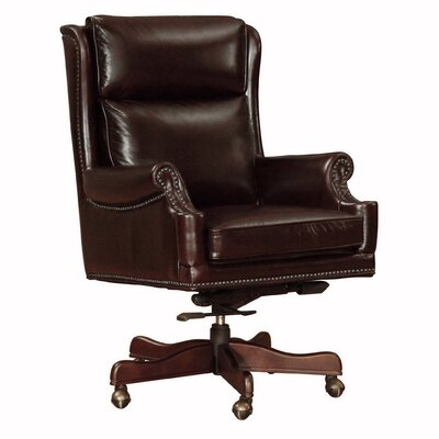 Clinton Mid-Back Leather Executive Chair by Lazzaro Leather