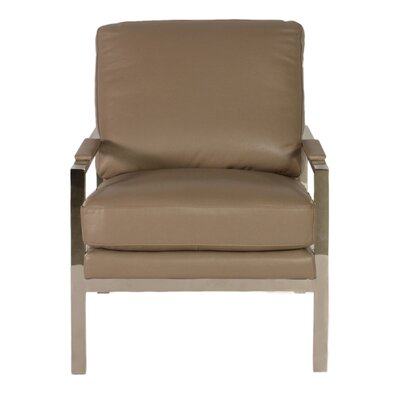 Adams Stainless Arm Chair by Lazzaro Leather